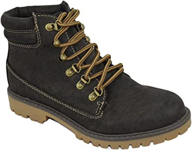 Soda Women Ankle Work Boots Lace Up