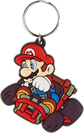 3PC 3D Mario Soft Rubber Keyring Keychain Double Sides New