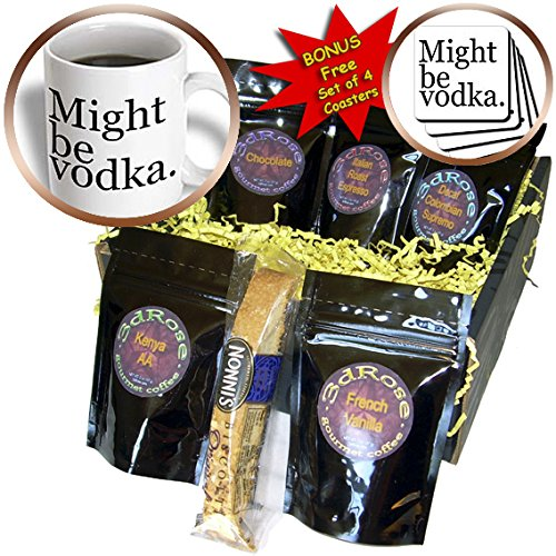 (EvaDane - Funny Quotes - Might be vodka. Black. - Coffee Gift Baskets - Coffee Gift Basket)