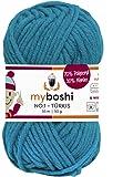 Myboshi (152 türkis) Merino Wolle / Acrylgarn No. 1 zum stricken, häkeln und für die Handarbeit (55m/50gr)