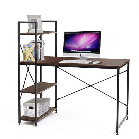Amazon.com: Escritorio de ordenador de estilo moderno, mesa ...