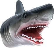 Shark Hand Puppet Toys, Tecesy Shark Puppets Role Play Toy , Soft Rubber Realistic Sea Animal Shark Head 7 inch
