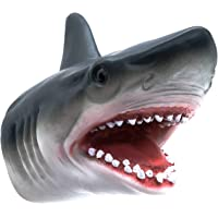 Shark Hand Puppet Toys, Zerospace Shark Puppets Role Play Toy for Kids, Soft Rubber Realistic Shark Head 7 inch