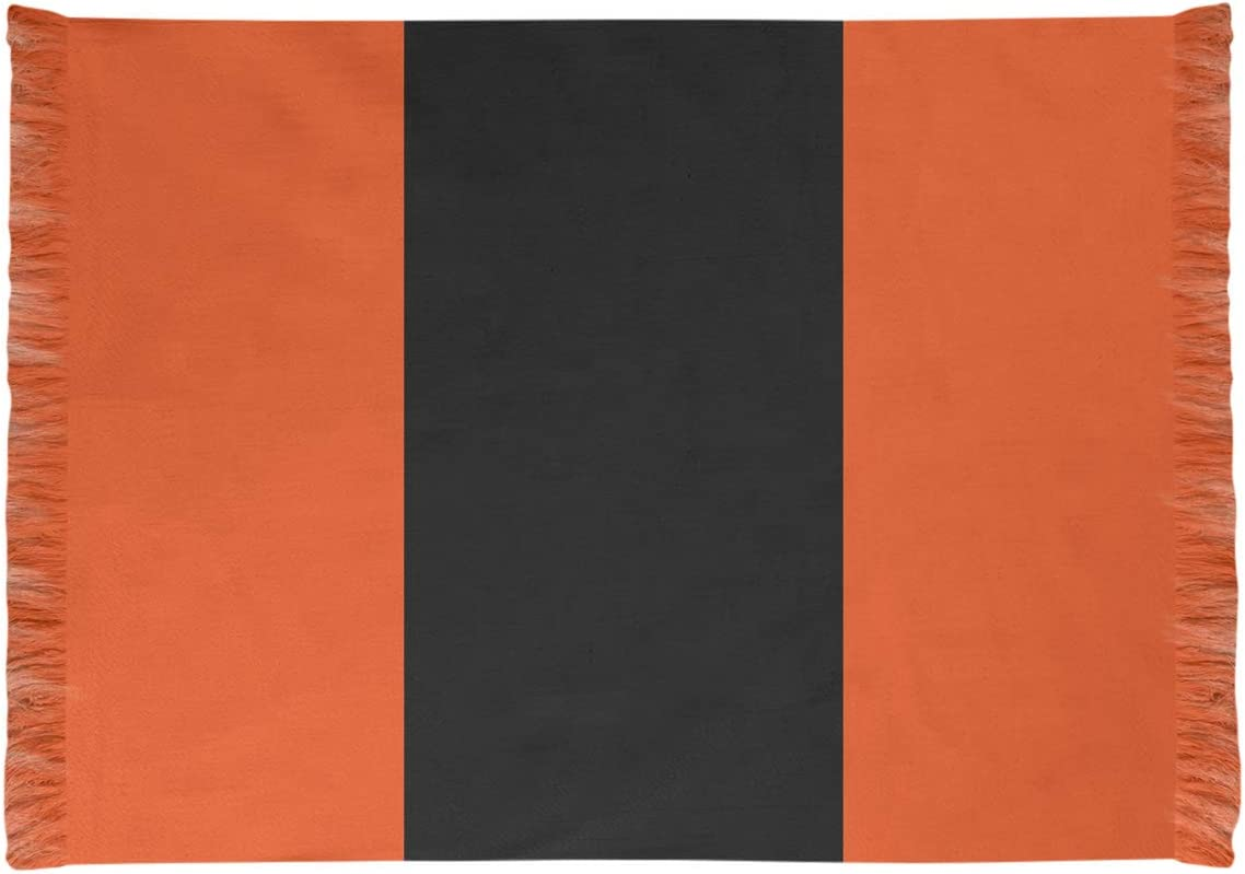 Amazon Com Artverse Nfs Cincinnati Football Stripes Chenille Rug W Non Skid Pad 65 X 54 Orange And Black Home Kitchen