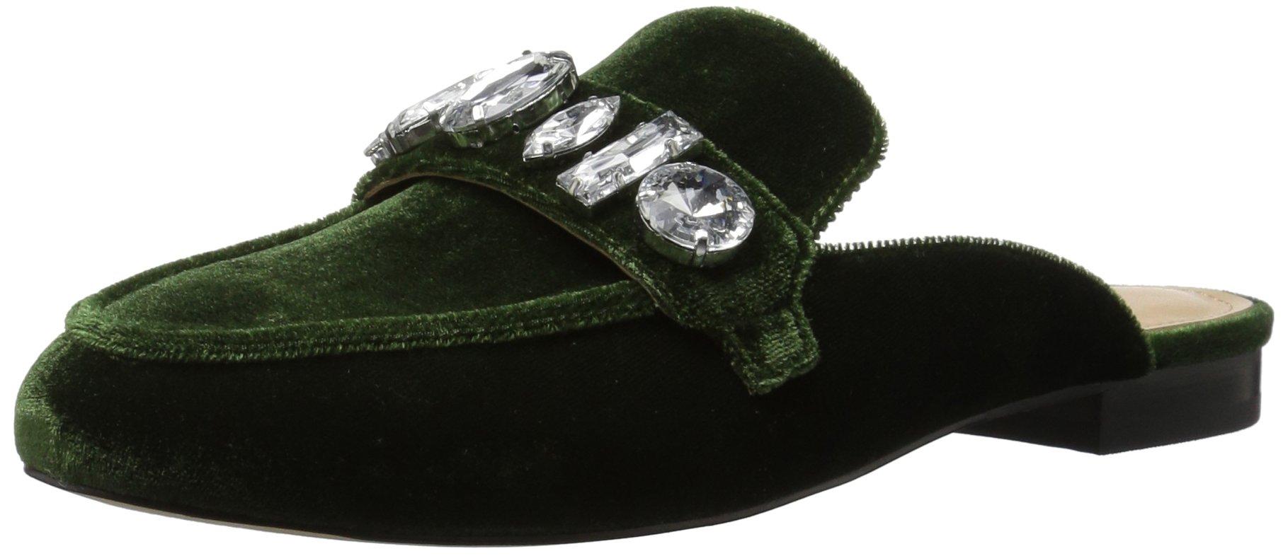 The Fix Women's Francesca Slip-On Loafer Large Jewels, Black/Multi, 9.5 B US
