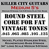 #5: KCG Medium Bass Strings for 5-String Bass - Solid Core for Fat Vintage Tones Coupled with Nickel Plated Steel Winding for Enhanced Brightness and Warmth