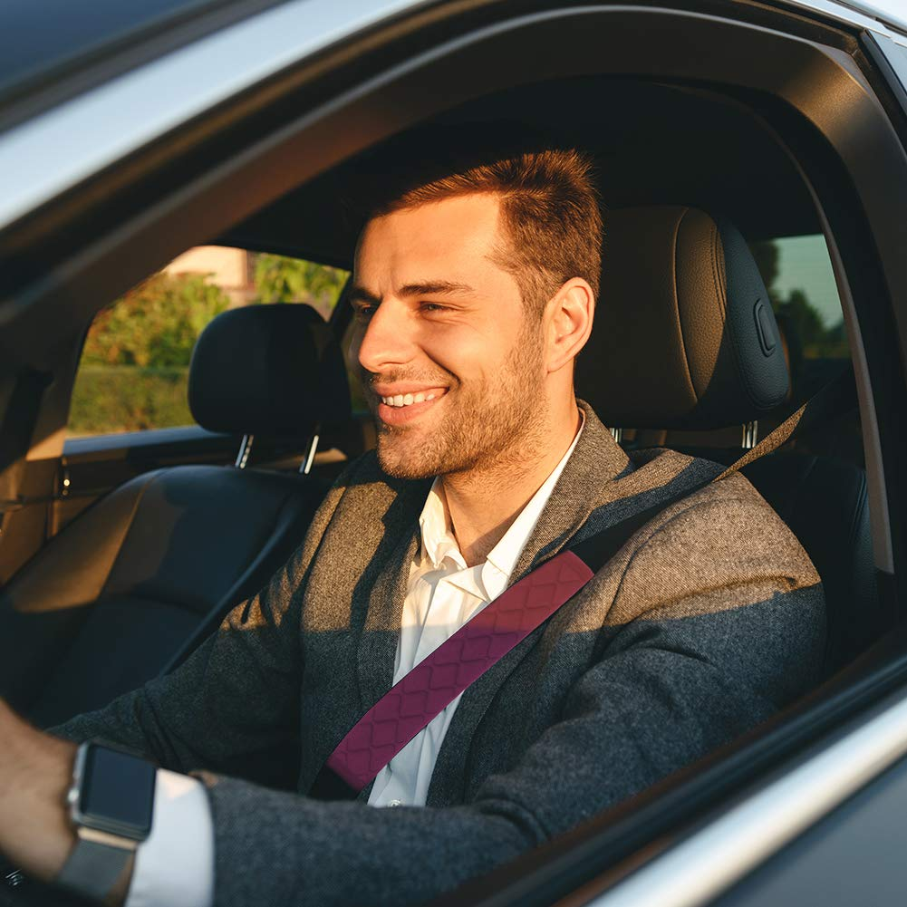 Tagaremuser 6 Pack Car Seat Belt Pads Seatbelt Protector Soft Comfort Seat Belt Shoulder Strap Covers Harness Pads Protect Neck and Shoulder