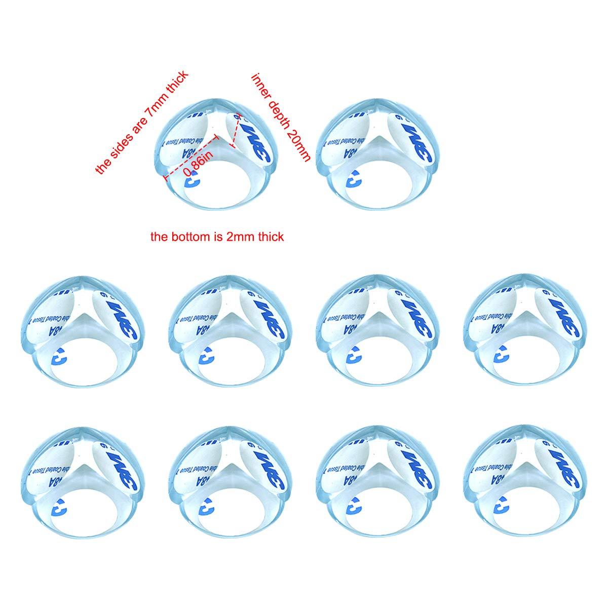 Tisch M/öbel Ecke Schutz f/ür Baby und Kinder Transparent aus Kunststoff mit Starke Haftung 20 St/ück Eckenschutz und Kantenschutz f/ür Kindersicherung L Form