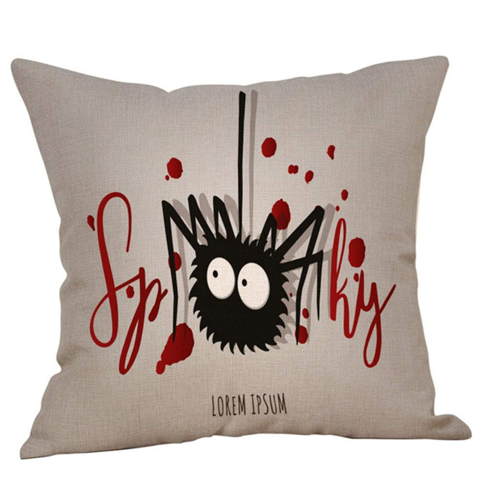 SportHome English Alphat Pattern Simple Fashion Throw Pillow Cases Cafe Sofa Pillowcover(C)