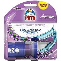 Desodorizador Sanitário Pato Gel Adesivo Aplicador + Refil Lavanda 2 discos