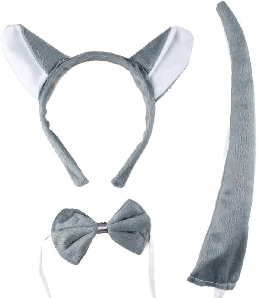 DAYAN Conjunto Disfraz Halloween Orejas corbata cola Show de ...