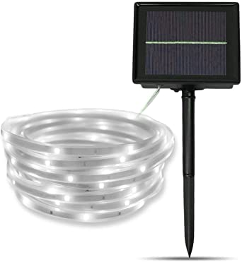 Tira de LED Lámparas Solares,SUAVER 16.4ft Impermeable Luces de Cadena,Luces Solares Cadena,tira de luz solar,Luces decorativas para jardín,patio y árboles: Amazon.es: Iluminación