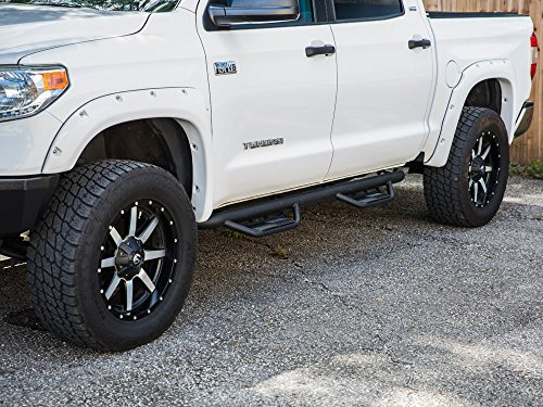 Nerf Bars | Side Steps | Side Bars Ajaa 2007-2019 Fit Toyota Tundra Crew Max Cab HEX Black Running Boards