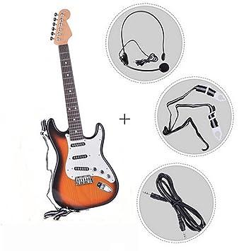 JYKOO Guitarra Eléctrica: Se Puede Conectar A Un Teléfono Móvil/Computadora, Proporcionar Auriculares