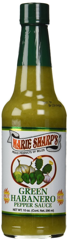 Marie Sharp's Green Habanero Hot Sauce 10 Oz (Pack of 2)