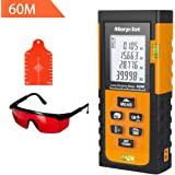 196ft Laser Measure - Morpilot Laser Tape Measure with Target Plate & Enhancing Glasses, Laser Measuring Device with Pythagorean Mode, Measure Distance, Area, Volume Calculation