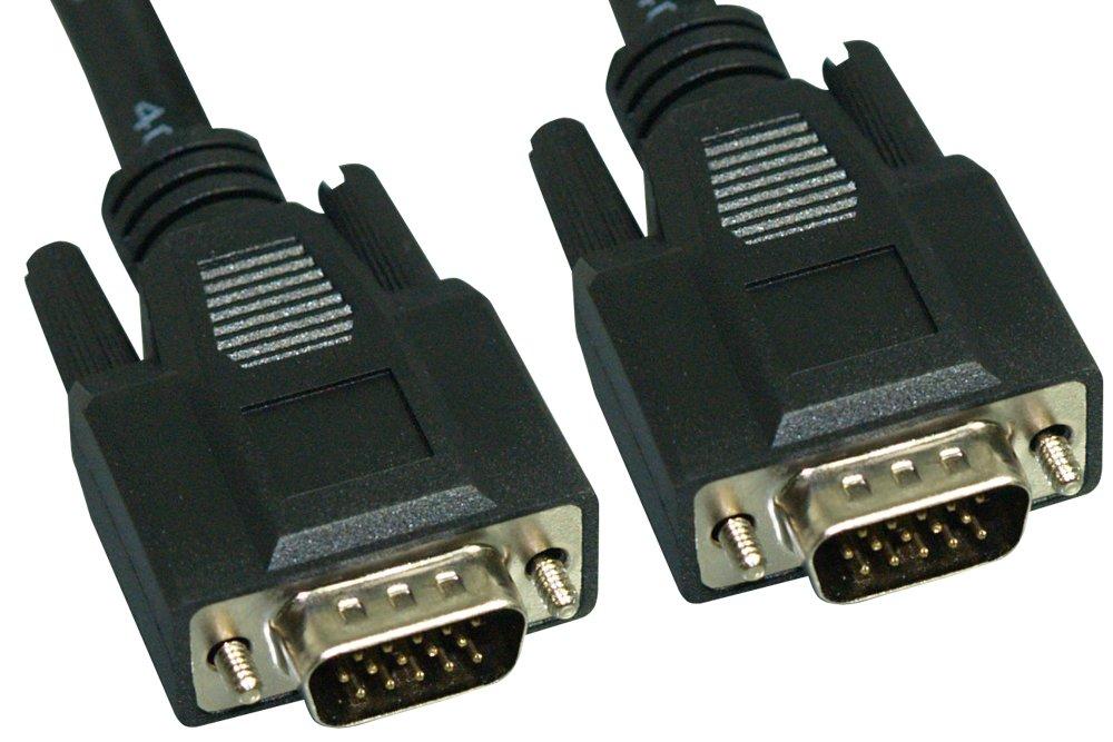 Cablelera ZC77EWMM-50 Plenum Rated Super VGA, HD15 M/M, 50', 28AWG, Triple Shielded