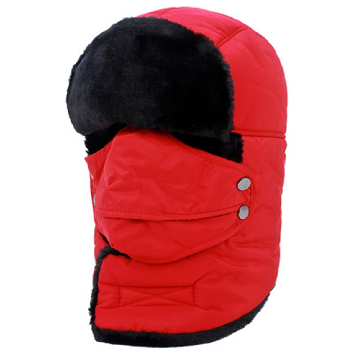 Men's Trapper Hat Winter Ski Hat with Winter Ear Flap and Ski Windproof Mask 39 TYJ2017122102B-O