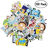 #5: Rick and Morty Stickers [50/100 PCS], Waterproof Rick and Morty Theme Stickers for Decorate Luggage, Laptop, Bicycle, Cars, Skateboards, Notebooks etc. No-Duplicate Cartoon Stickers Pack (100PCS-B)