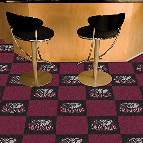 - FANMATS NCAA University of Alabama Crimson Tide Nylon Face Team Carpet Tiles