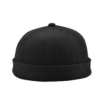 cc63755594a Homyl Men Woman Skullcap Navy Watch Cap Docker Hat Beanie Sailor Fisherman  Retro Outfit hat -