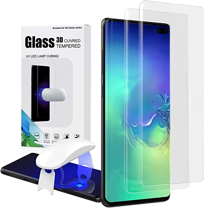 +3D Tempered Glass Film Screen Protectors//Cover Ultra Thin Transparent Flip Phone Case for Samsung Galaxy S10 Plus-2019 White XJZ Compatible with Samsung Galaxy S10 Plus Smartphone Case