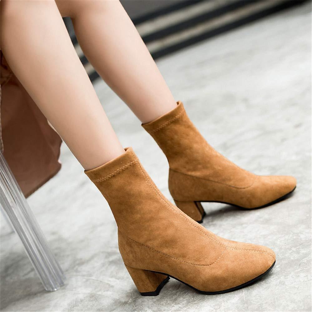 High Heels Stiefelies Female spitz spitz spitz mit nackten Stiefeln High Heel Gummischlauch Martin Stiefel, braun, 39 (Farbe   -, Größe   -) e6de9d