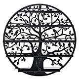 wall paint ideas Wall Mounted 5 Tier Nail Polish Rack Holder - Round Metal Salon Wall Art Display (Holds up to 70 Bottles) (Black)