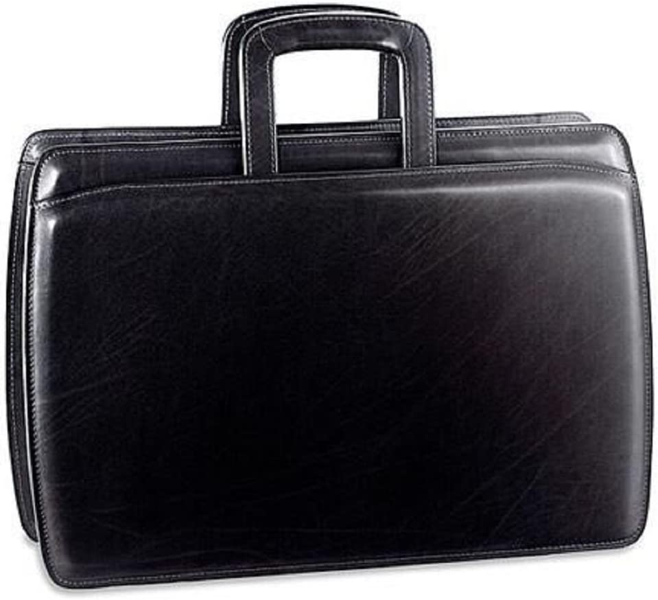 B000CN5OH4 Jack Georges Elements Double Gusset Top Zip Leather Briefcase 4202 - Black 61pYl4owasL.SL1000_