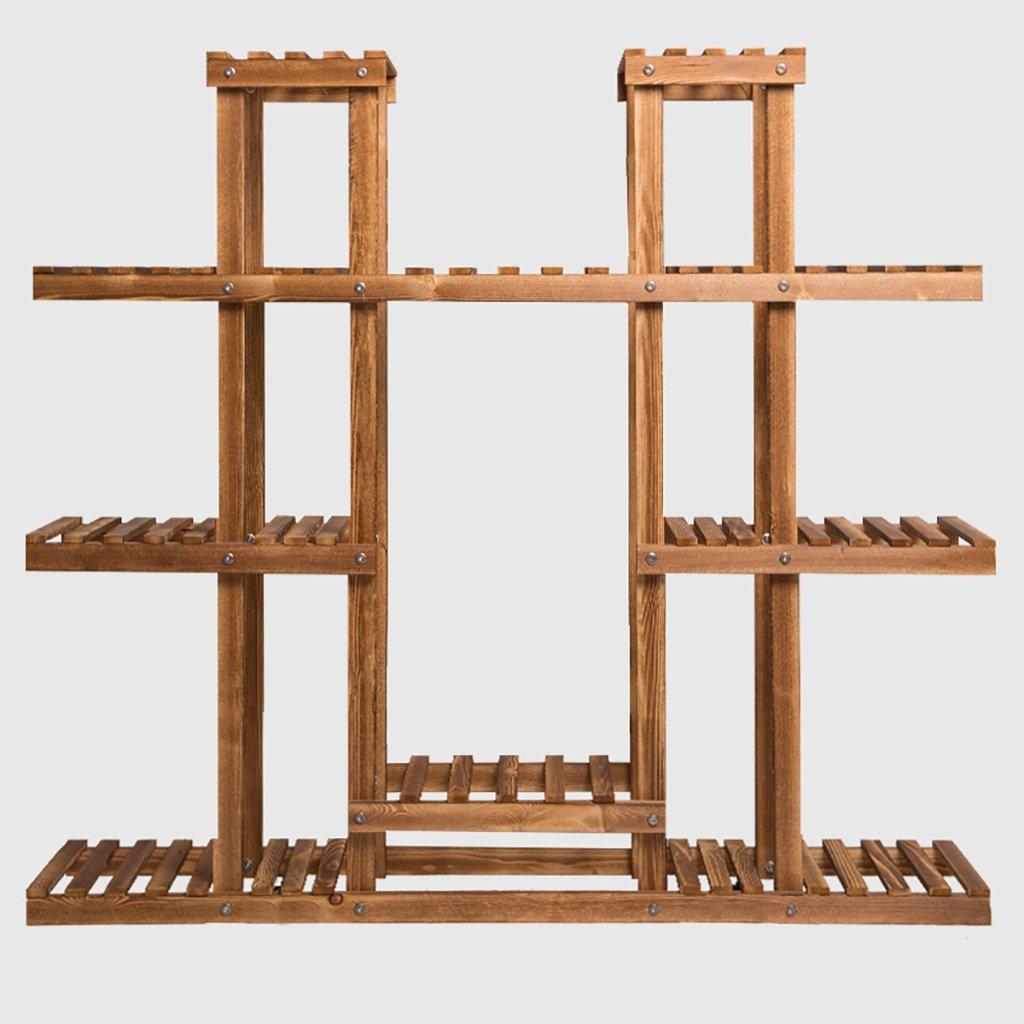 フラワースタンド無垢材組立ポットラックリビングルーム屋内屋外バルコニーパティオ工場盆栽装飾フレーム (サイズ さいず : A) B07D652FVM   A