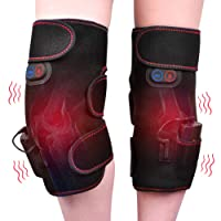 Wireless Heated Knee Massager Vibration Knee Pads Heated Knee Wrap for Pain Relief...