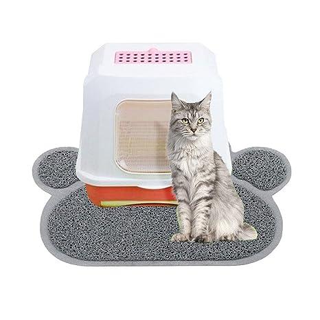 Aolvo Alfombrilla de arena para gatos, sin BPA, alfombrilla de arena para gatitos, impermeable, antideslizante, ...