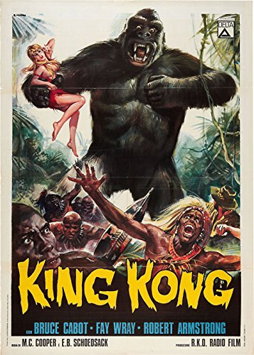 Old Tin Sign King Kong Fay Wray Classic Vintage Movie Poster MADE IN THE USA
