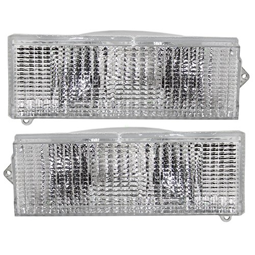 Driver and Passenger Signal Front Marker Lights Lamps Replacement for Jeep SUV Pickup Truck 56000099 56000098 AutoAndArt