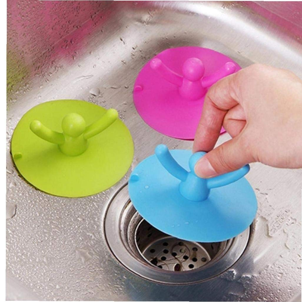 AMOYER Shower Drain Stopper Plug Bathtub Cover With Silicone Material Bathroom Strainers Househeld Protectors With Good Grips