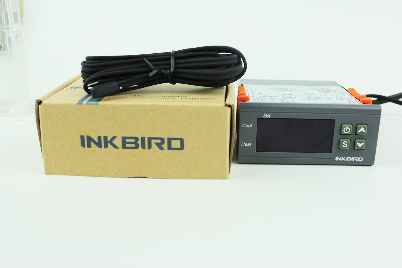 Inkbird Dual RelaisTemperaturregler Temperaturdifferenzregler Thermostat 220V Temperatur f/ühler mit heizung und K/ühlung Temperaturregelung