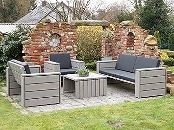 Loungemöbel Set 4 Holz, Inkl. Polster   Lieferung Komplett Montiert