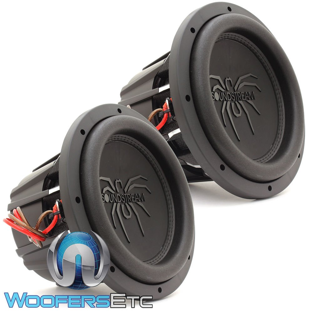 Pair of Soundstream T5.104 10'' 1800W RMS Dual 4-Ohm T5 Series Subwoofers