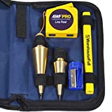 Tools & Hardware : AWF-Pro Plumb Bob Kit, 16 and 8 oz Solid Brass Plumb Bobs, Retractable Line Reel and Case
