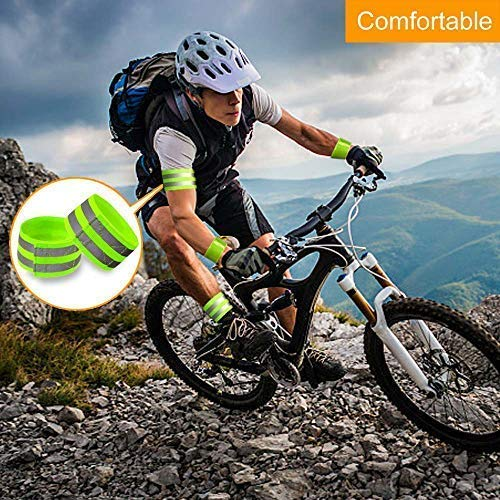 Cycling and Running 4 pcs Reflective Bands for Wrist Ankle Leg Very Large Reflective Surface Area landdy Arm High Visibility Reflective Gear for Night Walking Safety Reflector Tape Straps
