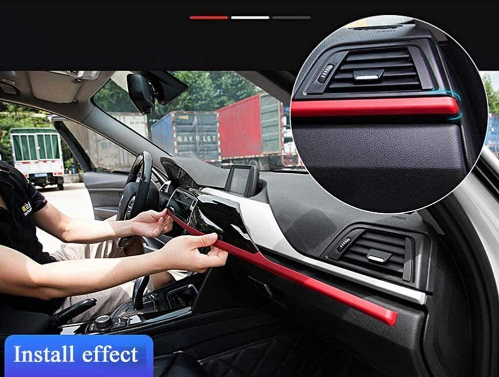 Left Hand Drive ABS Center Console Decoration Panel Cover Trim for BMW 3 4 Series f30 f34 GT 316i 320li 2013-2017 blue