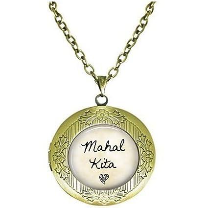 hars Mahal Kita Locket Necklace - I Love You - Tagalog Philippines Locket Necklace - Mahal