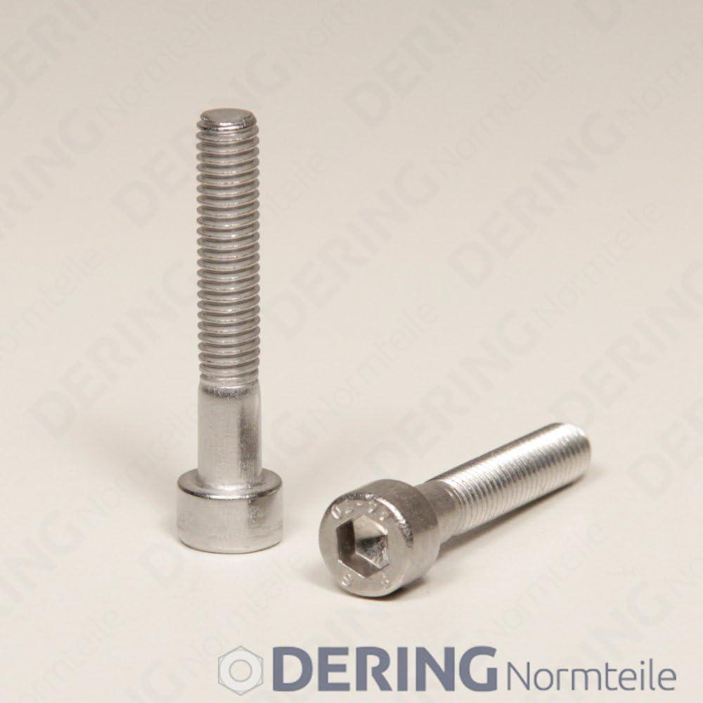 rostfrei DERING Zylinderschrauben M1,6x12 mit Innensechskant DIN 912 Edelstahl A2 10 St/ück | Zylinderkopf Schrauben