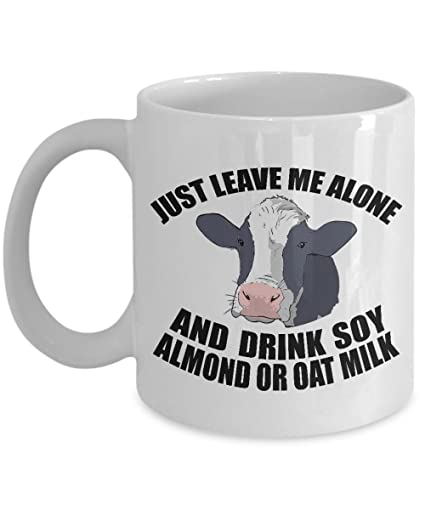 Amazoncom Vegan Coffee Mugs Funny Quotes Just Leave Me Alone