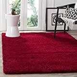 Safavieh California Premium Shag Collection SG151-4040 Red Square Area Rug (6'7'' Square)