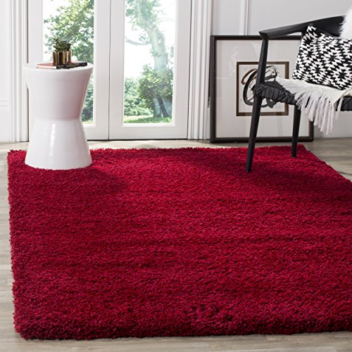 Safavieh California Premium Shag Collection SG151-4040 Red Area Rug (9'6 x - Wool Rug 10x13 Area