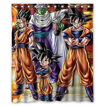 Dragon ball z custom waterproof shower curtain for Dragon ball z bathroom