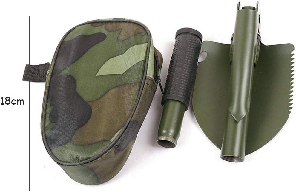 Tangger 2 PCS Mini Multifunktional Klappspaten,Tragbare Klappschaufel Mini Schneeschaufeln Camping mit Kompass Stahl Schaufel Spitzhacke f/ür /Überleben//Garten//Camping,Zuf/ällige Farbe