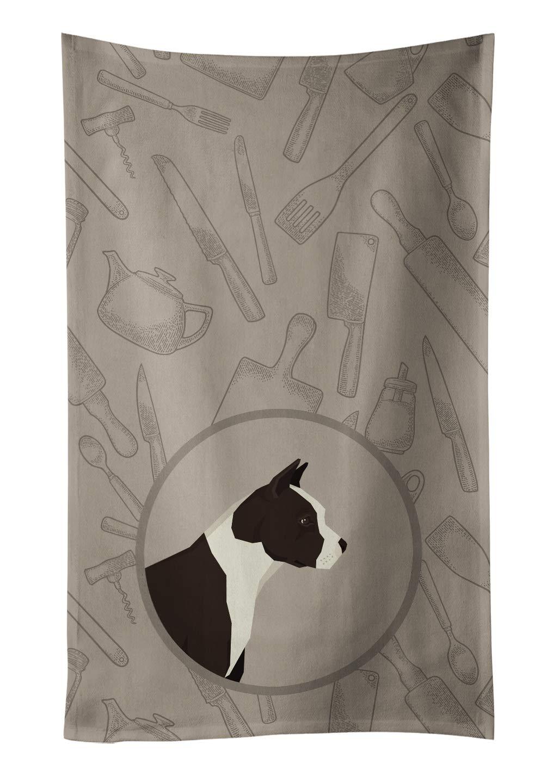 Caroline's Treasures CK2162KTWL American Staffordshire Terrier in The Kitchen Kitchen Towel, 15 X 28, Multicolor 1