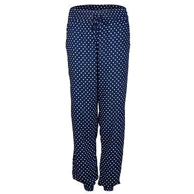Kostenloser Versand Geschäft zahlreich in der Vielfalt Goldmarie Hose Damen Stoffhose Punkte Muster - blau weiß Gr ...